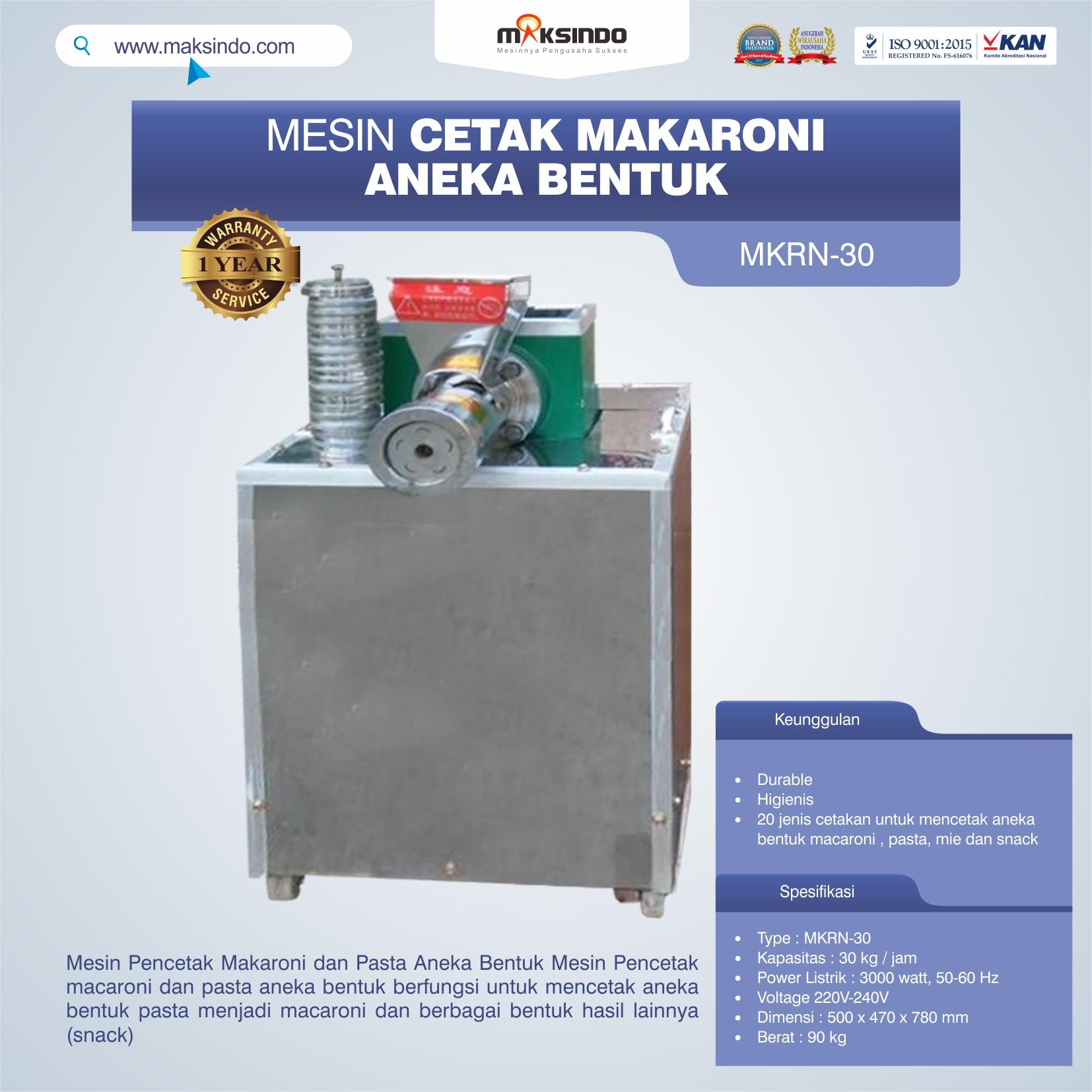 Jual Mesin Cetak Makaroni Aneka Bentuk di Pekanbaru