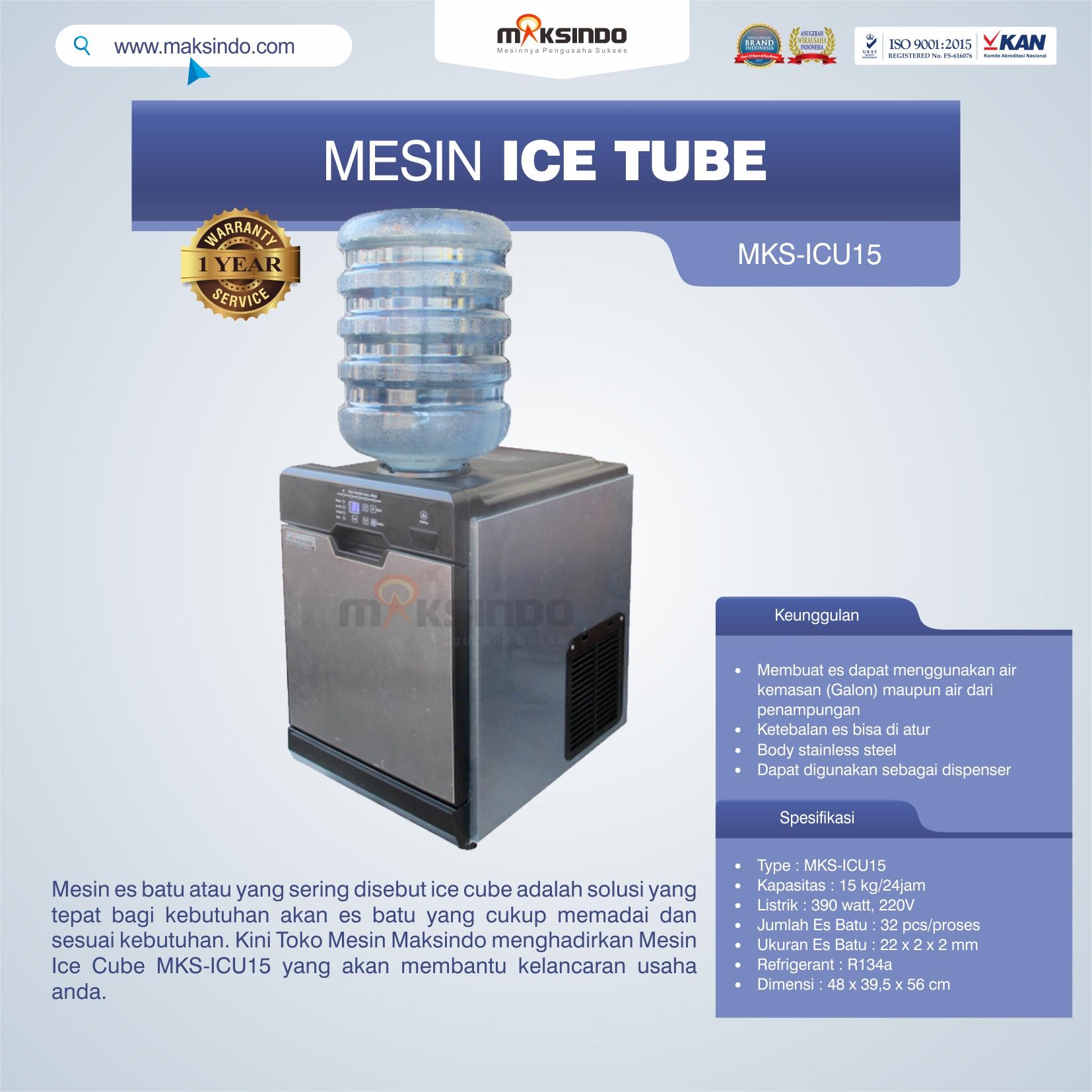 Jual Mesin Ice Cube MKS-ICU15 di Pekanbaru