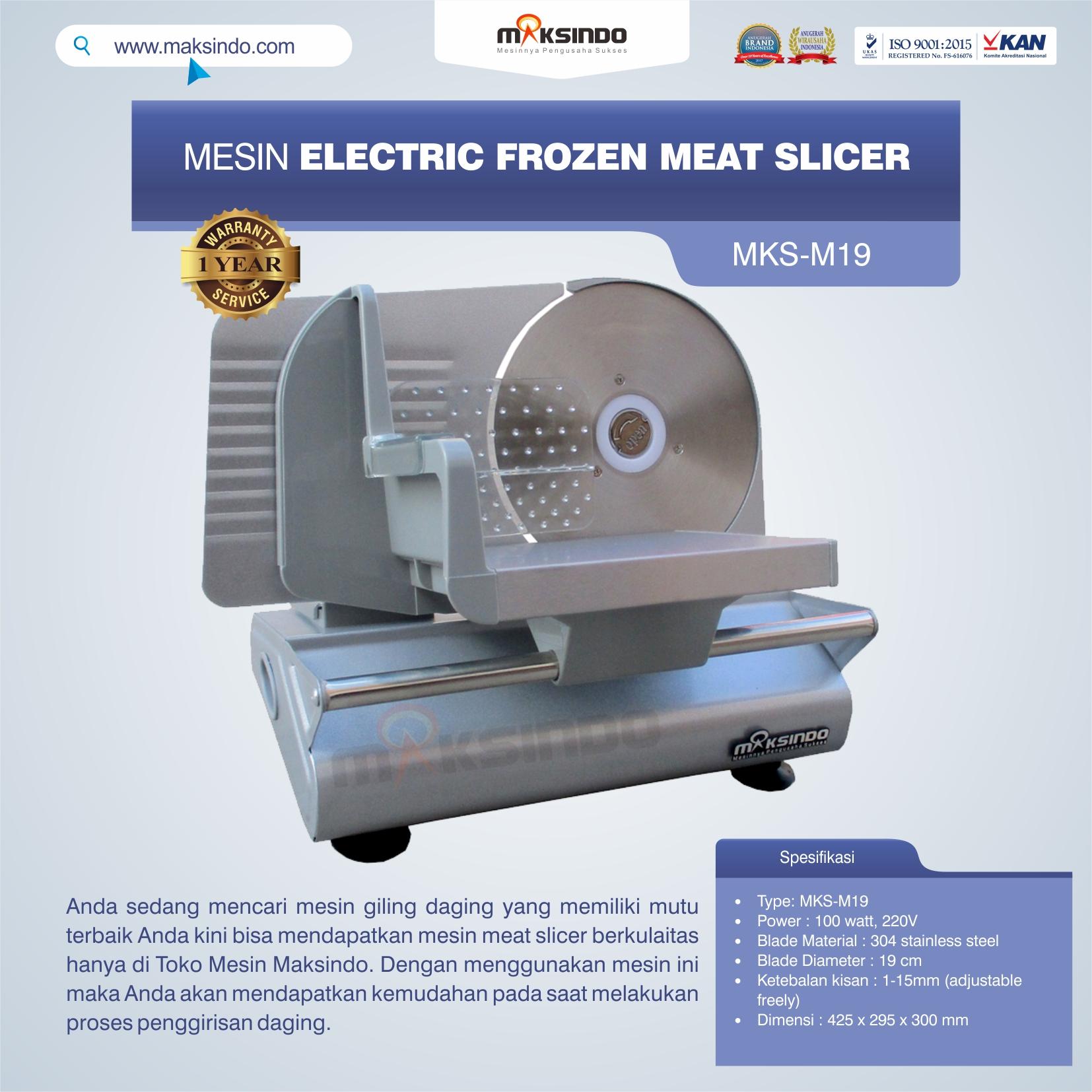 Jual MesinElectric Frozen Meat SlicerMKS-M19 di Pekanbaru