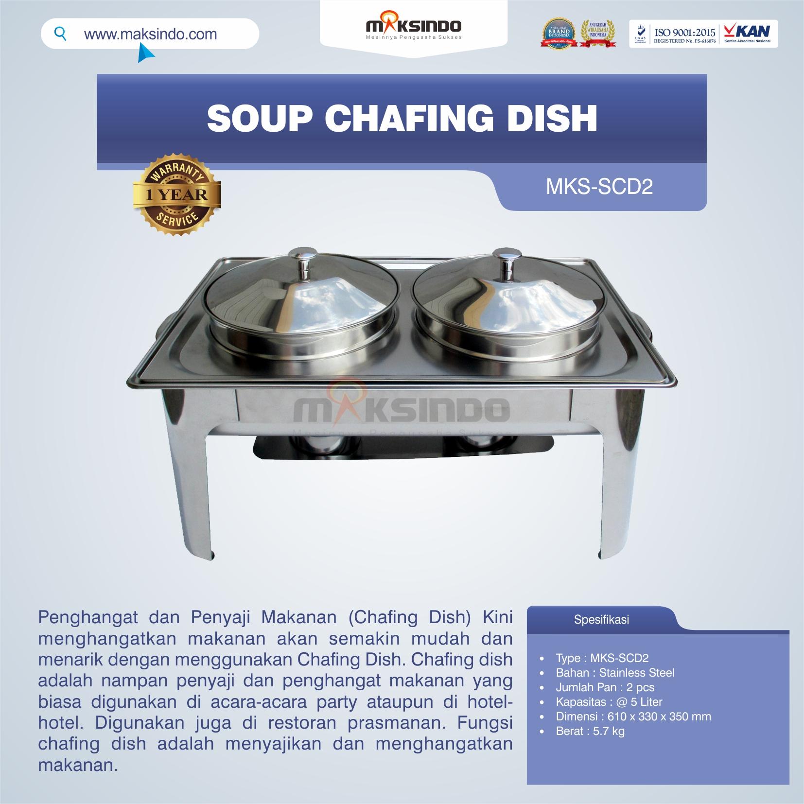 Jual Soup Chafing Dish MKS-SCD2 di Pekanbaru