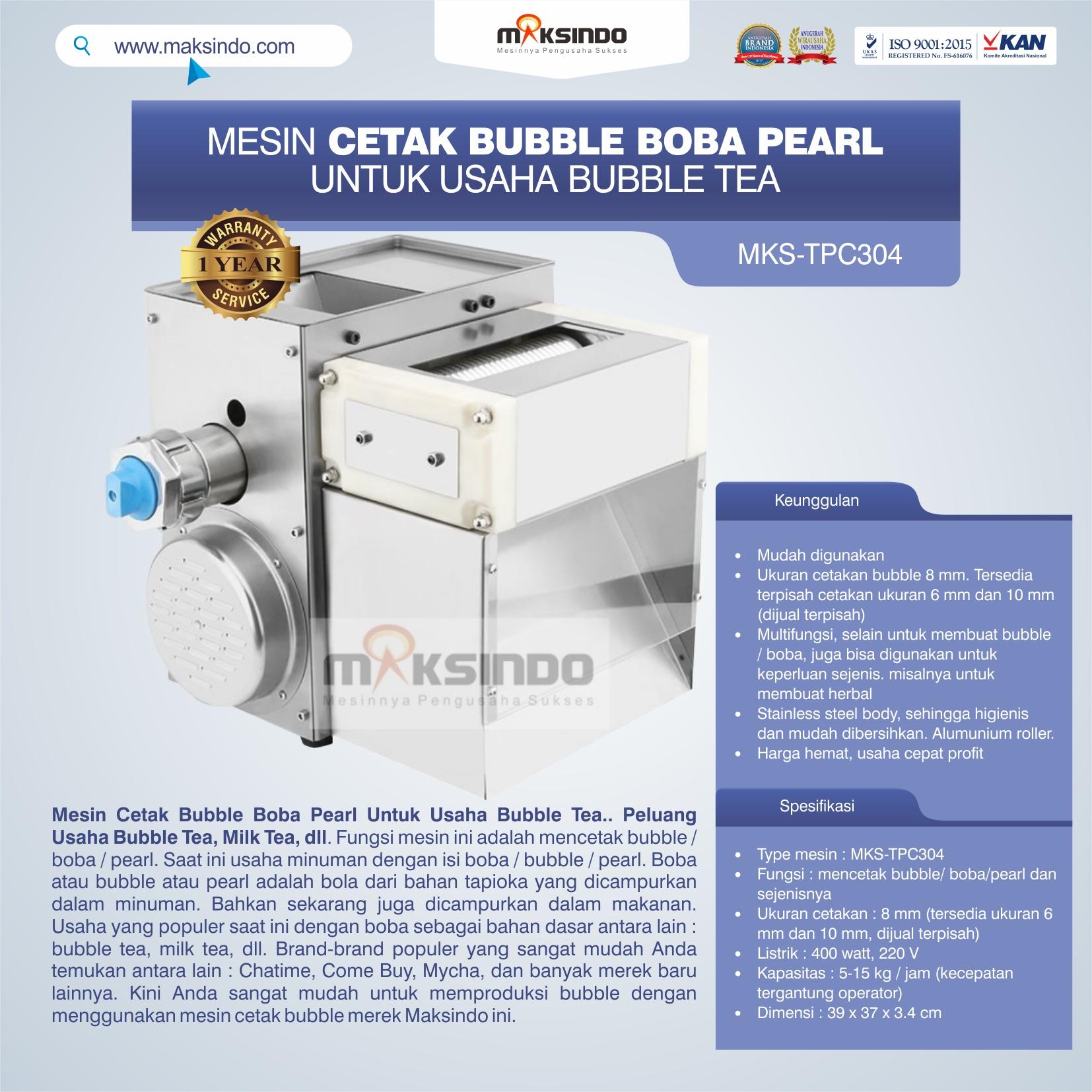 Jual Mesin Cetak Bubble Boba Pearl Untuk Usaha Bubble Tea di Pekanbaru