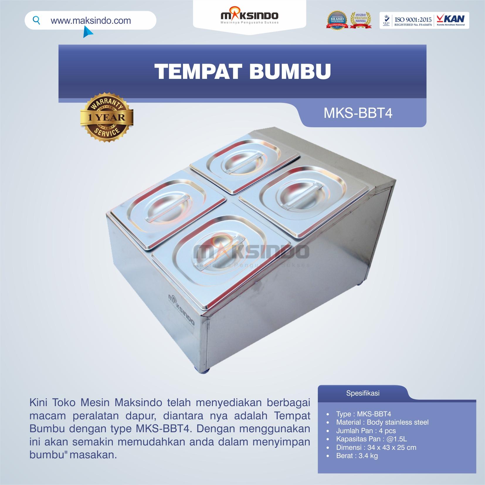 Jual Tempat Bumbu MKS-BBT4 di Pekanbaru