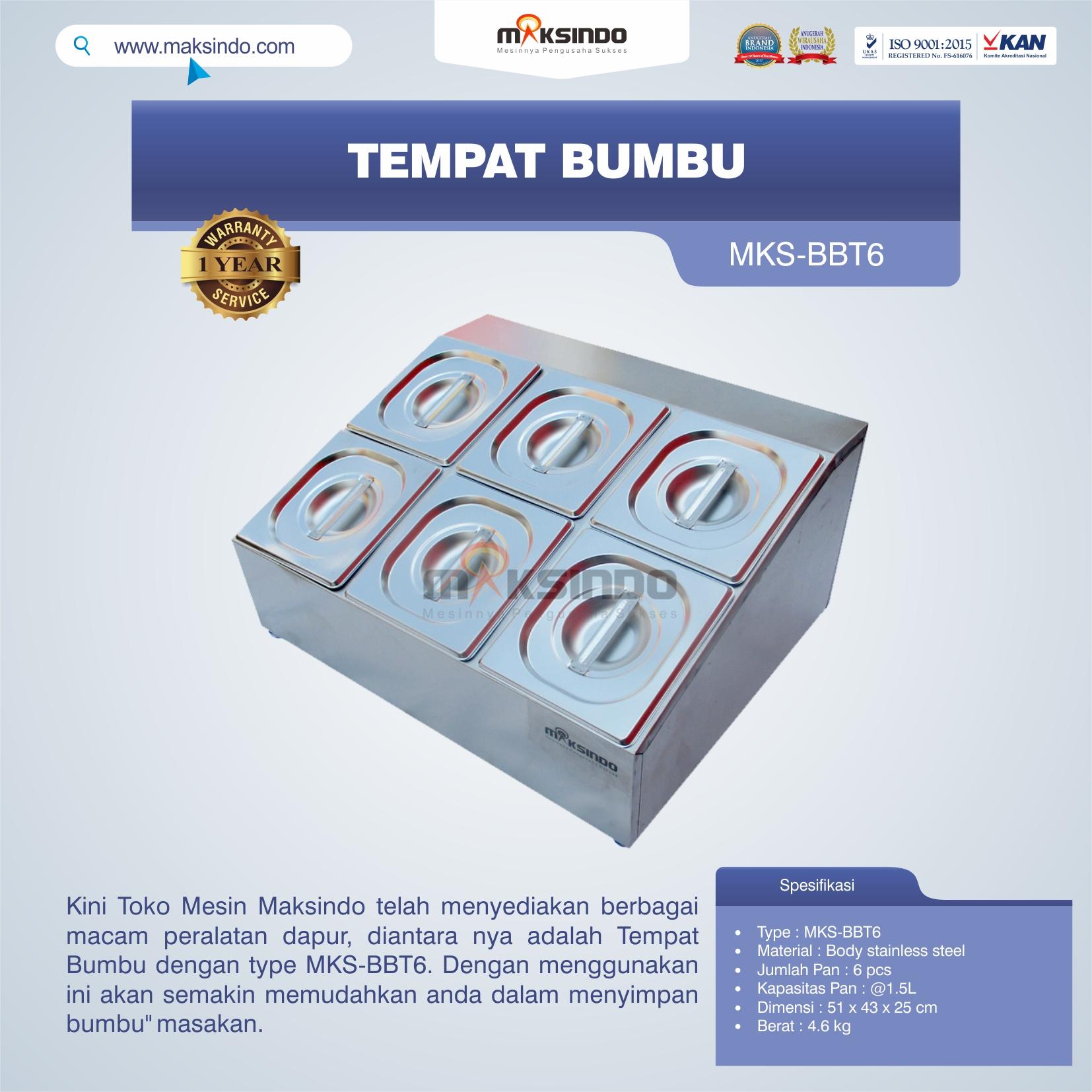 Jual Tempat Bumbu MKS-BBT6 di Pekanbaru