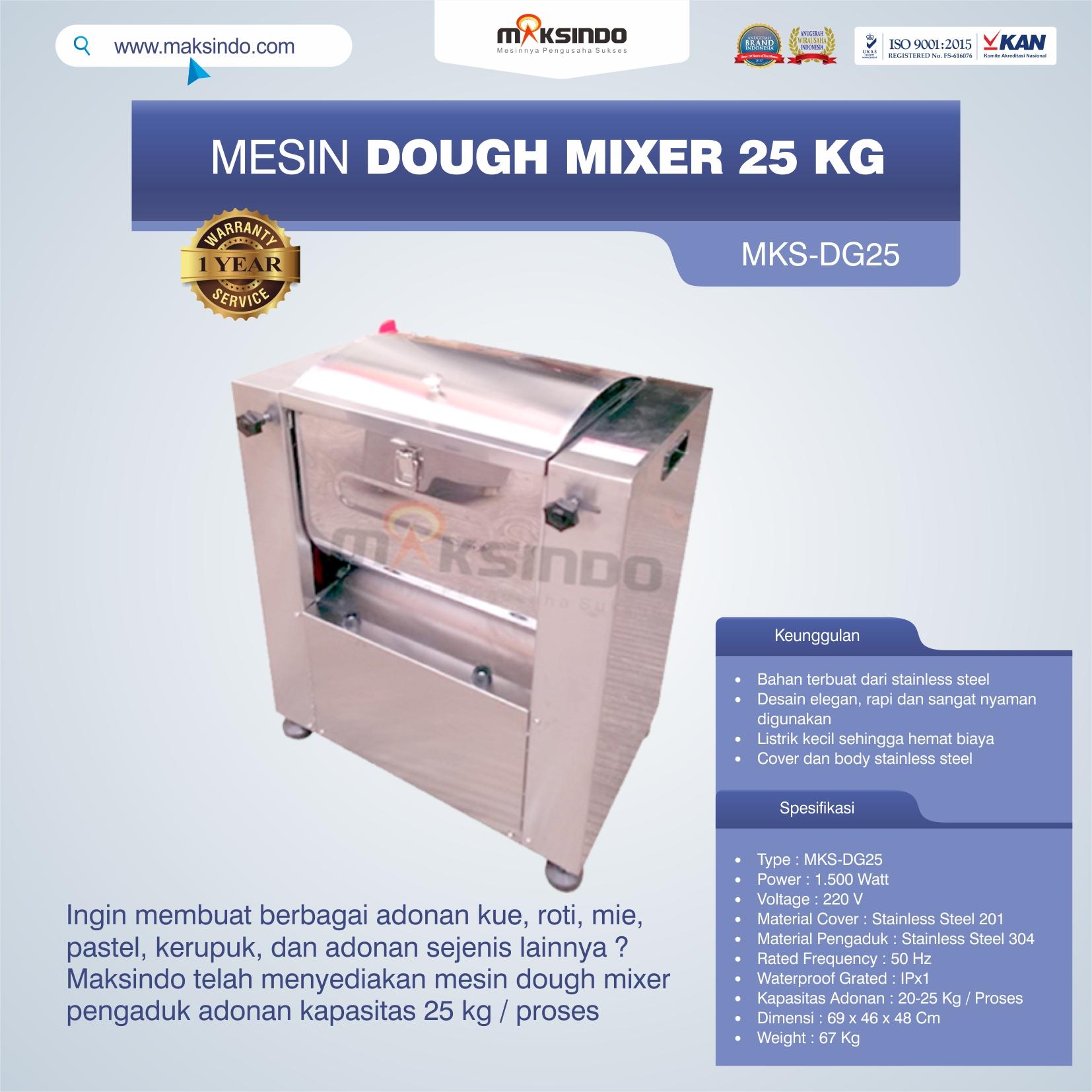 Jual Mesin Dough Mixer 25 kg (MKS-DG25) di Pekanbaru