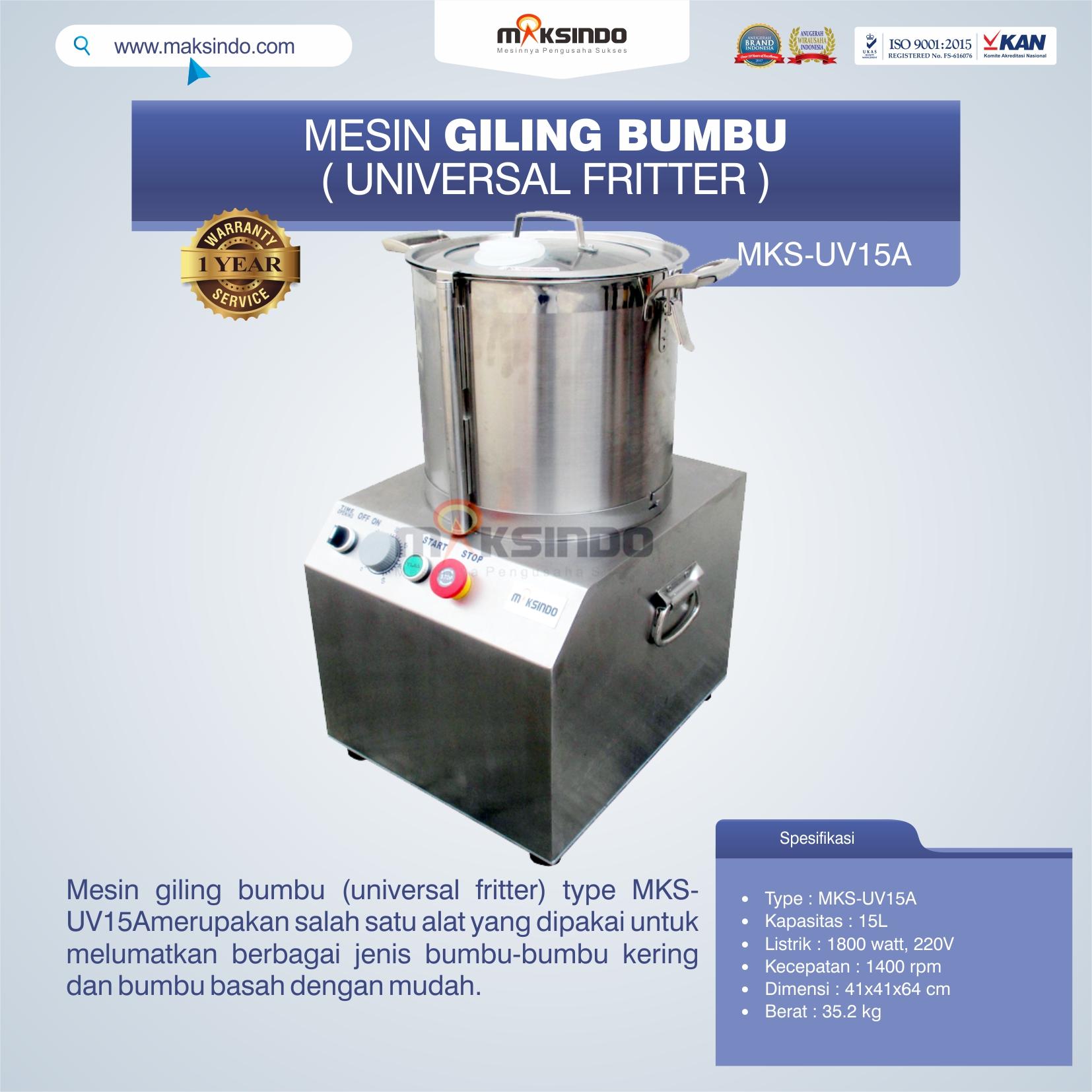 Jual Mesin Giling Bumbu (Universal Fritter) MKS-UV15A di Pekanbaru