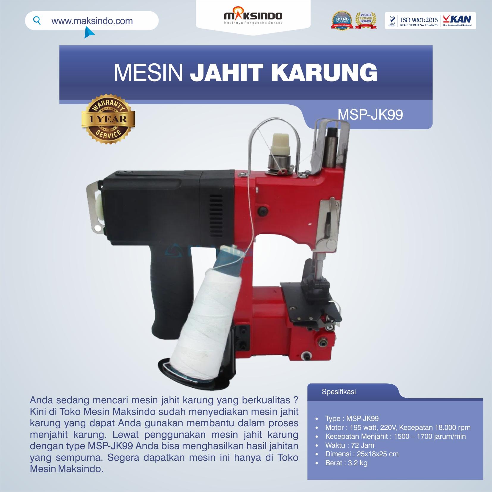 Jual Mesin Jahit Karung MSP-JK99 di Pekanbaru