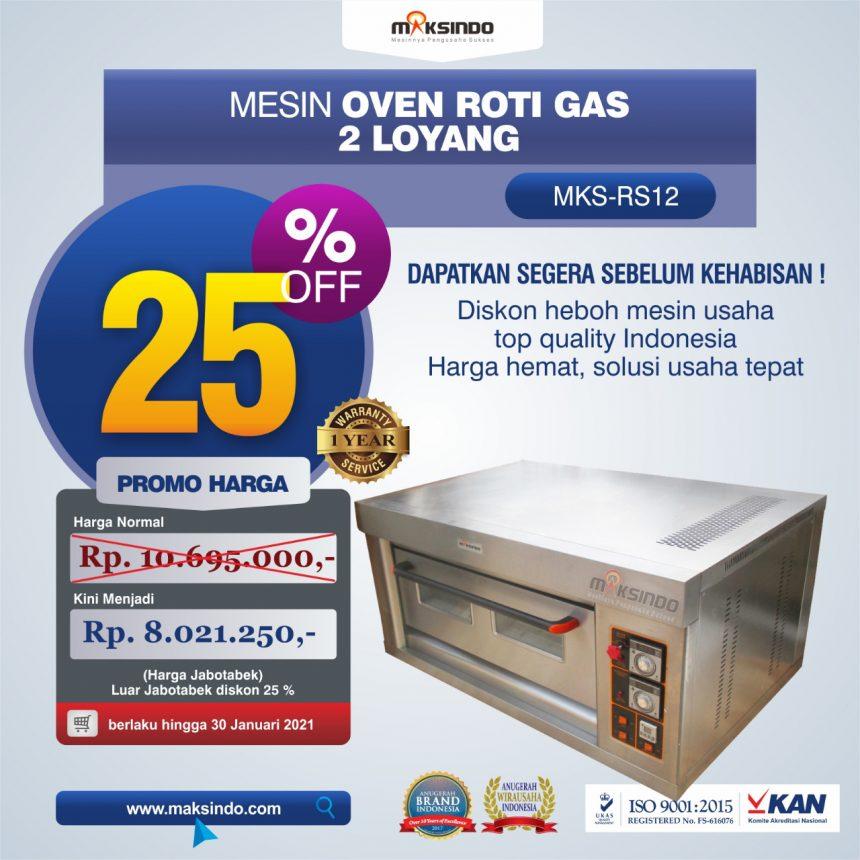 Jual Mesin Oven Roti Gas 2 Loyang (MKS-RS12) di Pekanbaru