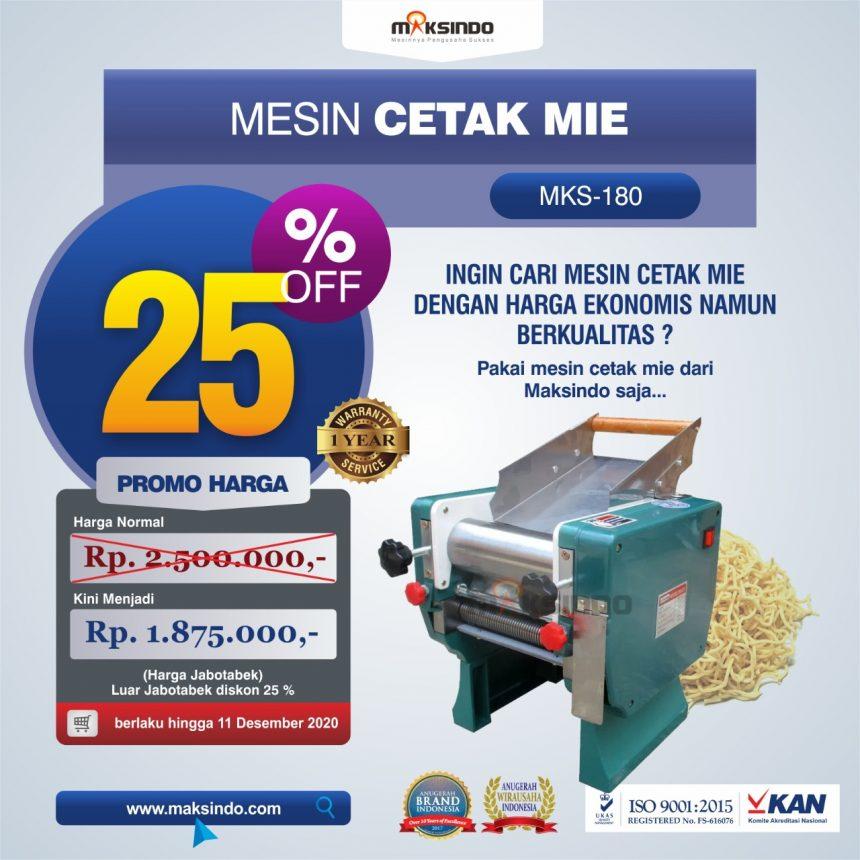 Jual Mesin Cetak Mie (MKS-180) di Pekanbaru