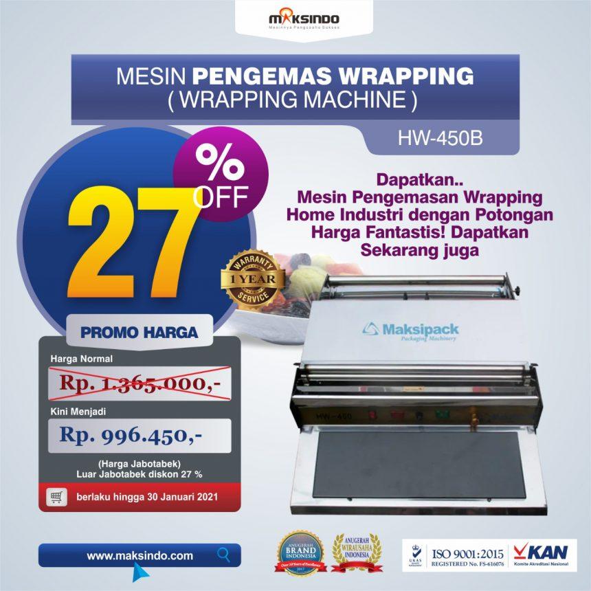 Jual Mesin Wrapping Makanan HW-450B di Pekanbaru