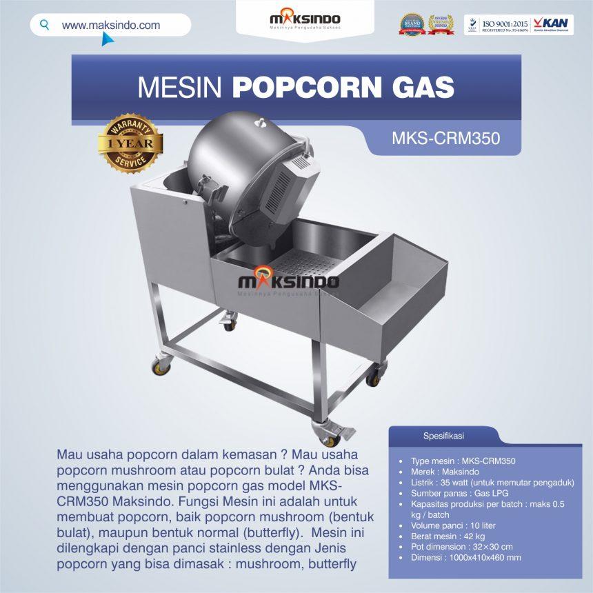 Jual Mesin Popcorn Gas Model MKS-CRM350 di Pekanbaru